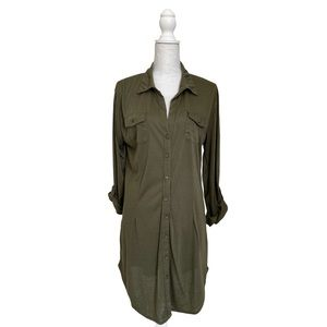 NEW! WHITE MARK womens olive tunic collar dress A1